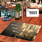 Custom Text Cup Bar Runner
