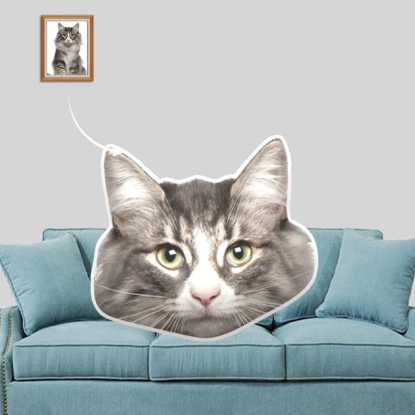 Custom Face Cat Shaped Pillow