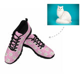 Custom Cat Face Paw and Fish Bone Women's Running Shoes