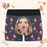 Custom Face Surprise Men's All-Over Print Boxer Briefs