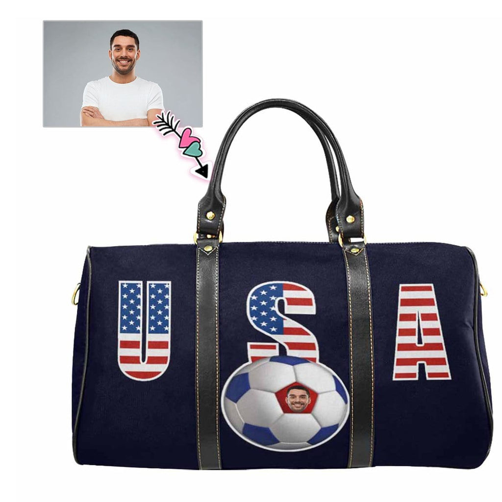 Custom Face Football Travel Bag
