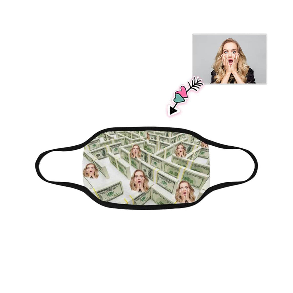 Custom Face Money Fabric Mouth Mask