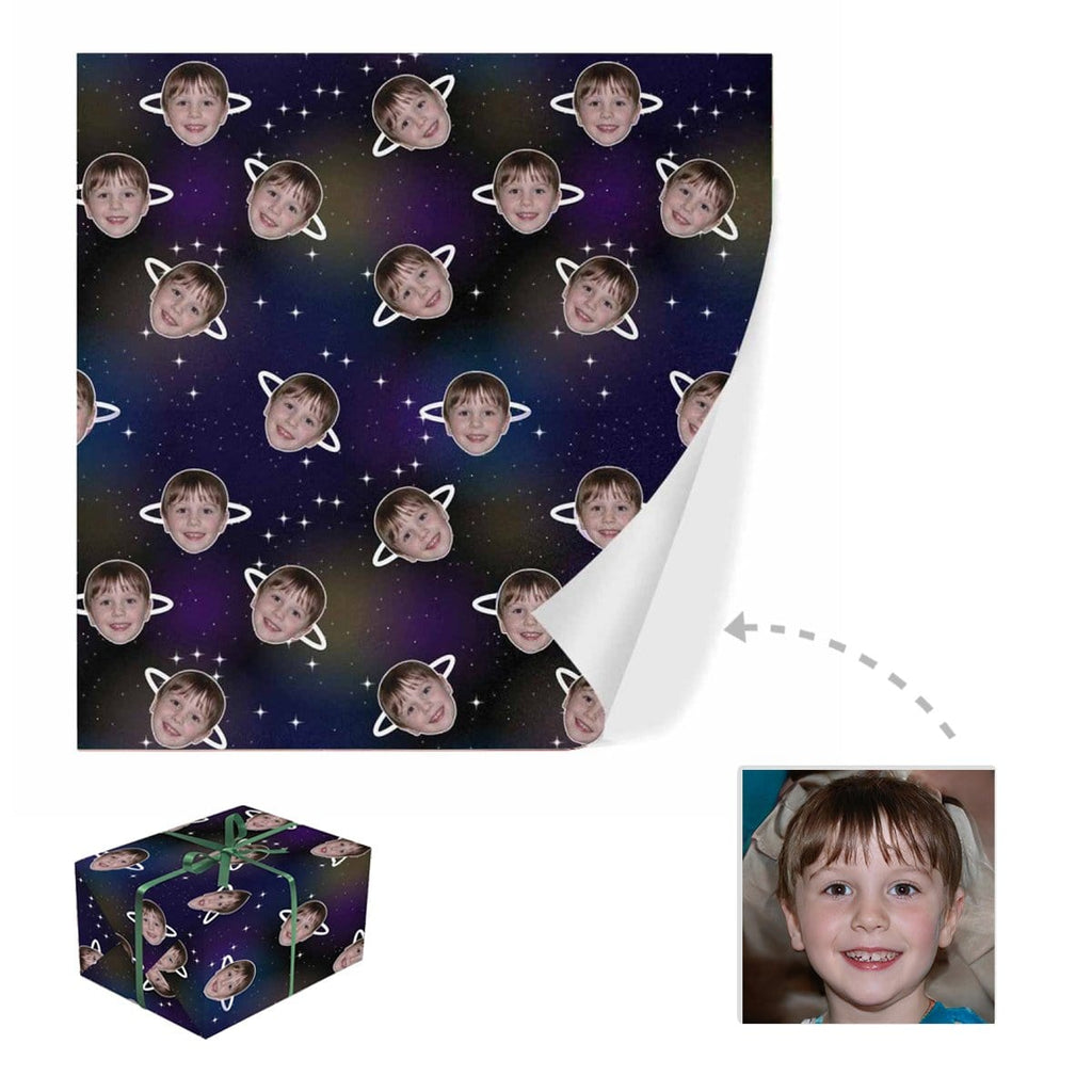 Custom Face Planet Gift Wrapping Paper