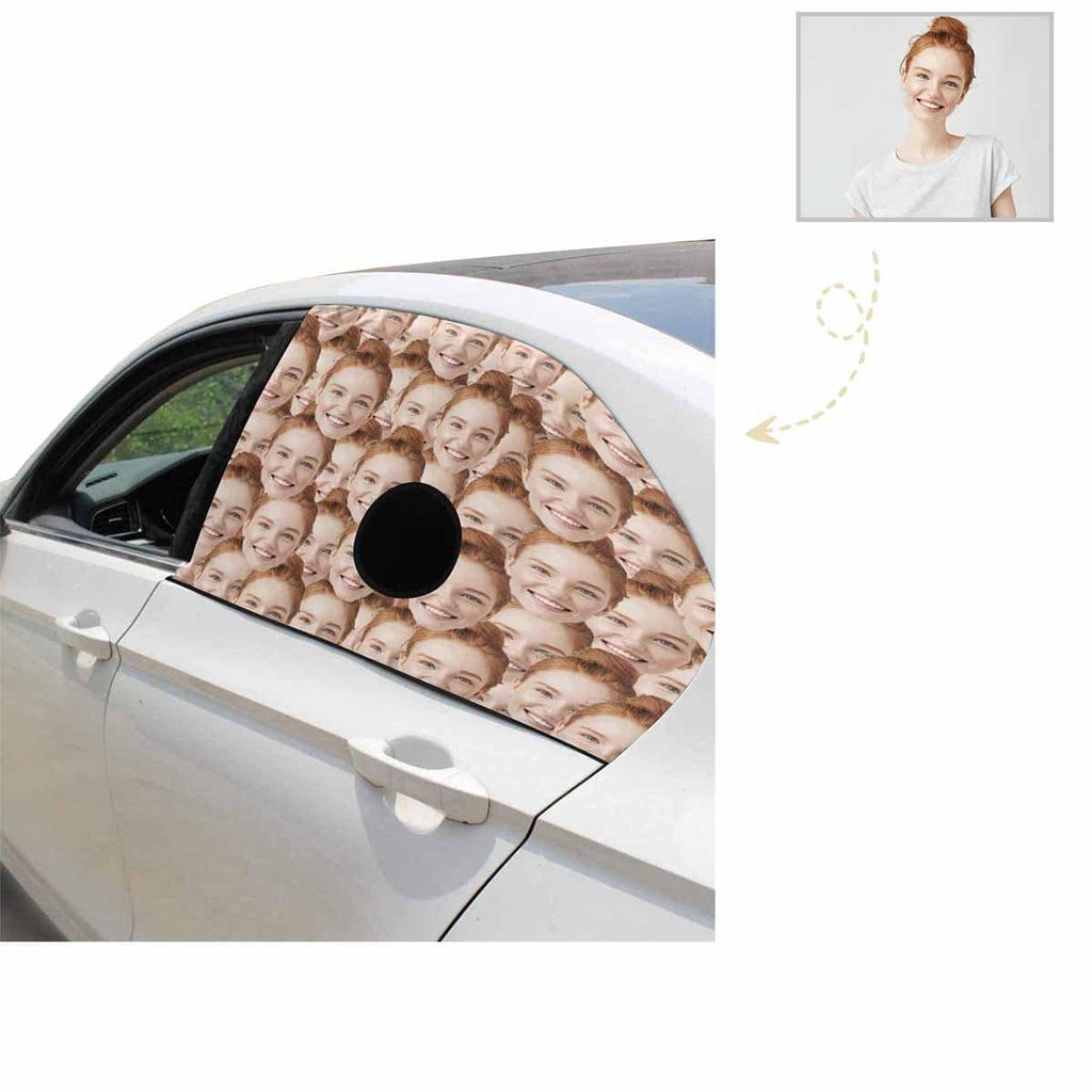 Custom Face Pet Dogs Car Window Sun Shade Cover