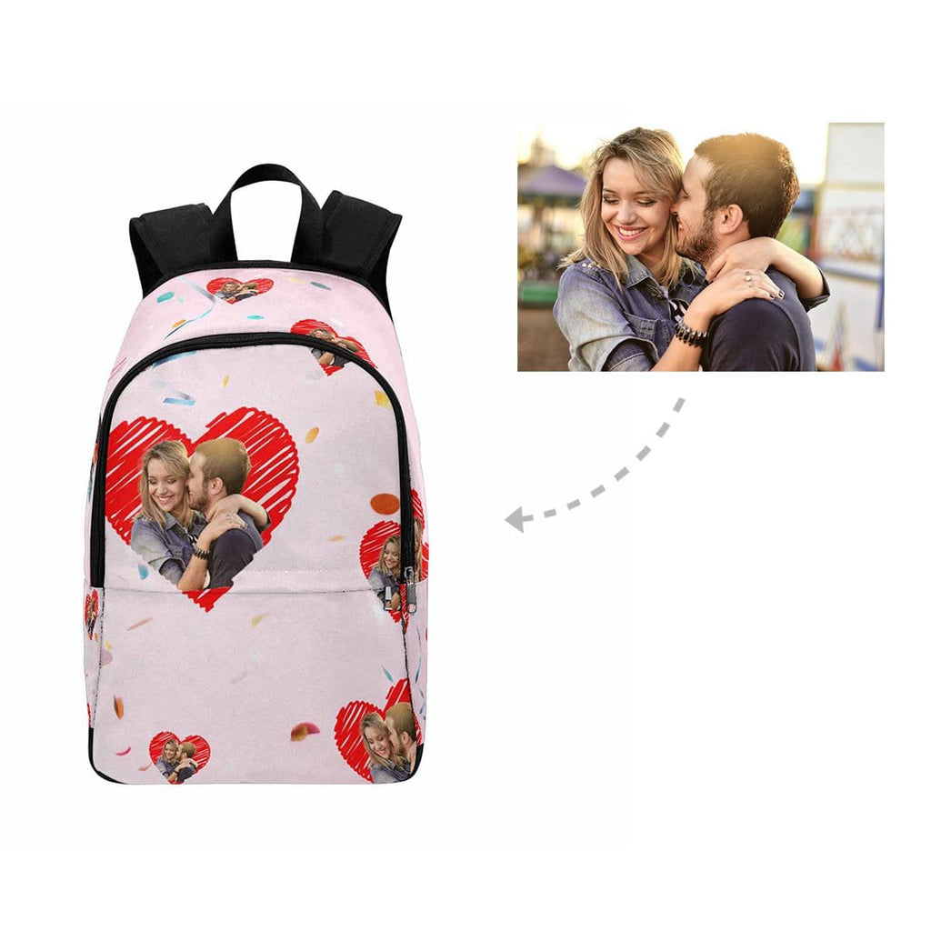 Custom Couple Love Heart Backpack