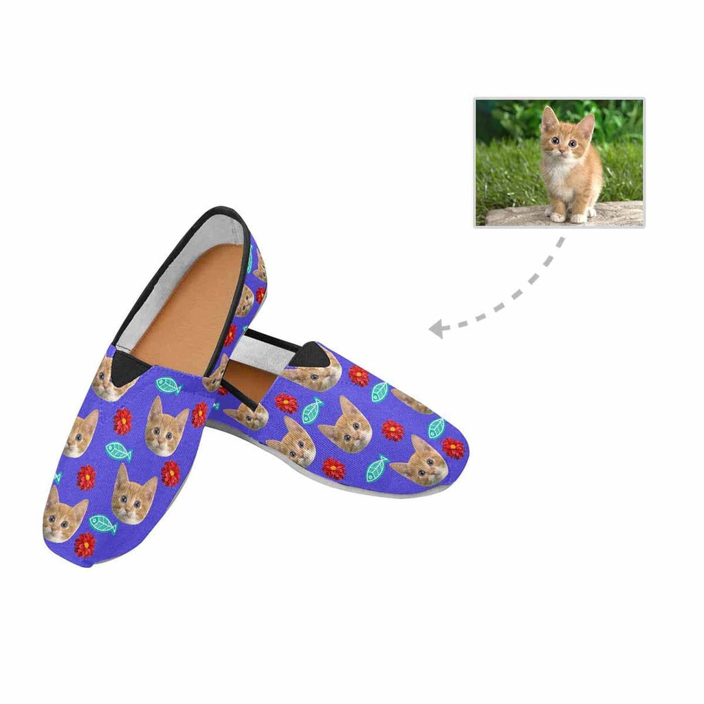 Custom Cat Flower Fish Women's Casual Shoes