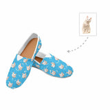 Custom Cat Face Paw and Bone Women's Casual Shoes
