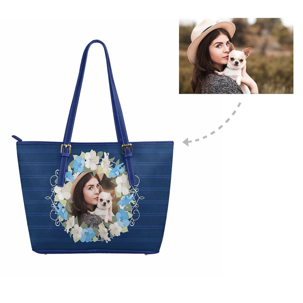 Custom Photo Floral Women's Tote Bag