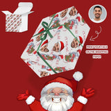 Custom Face Christmas Socks Gift Wrapping Paper