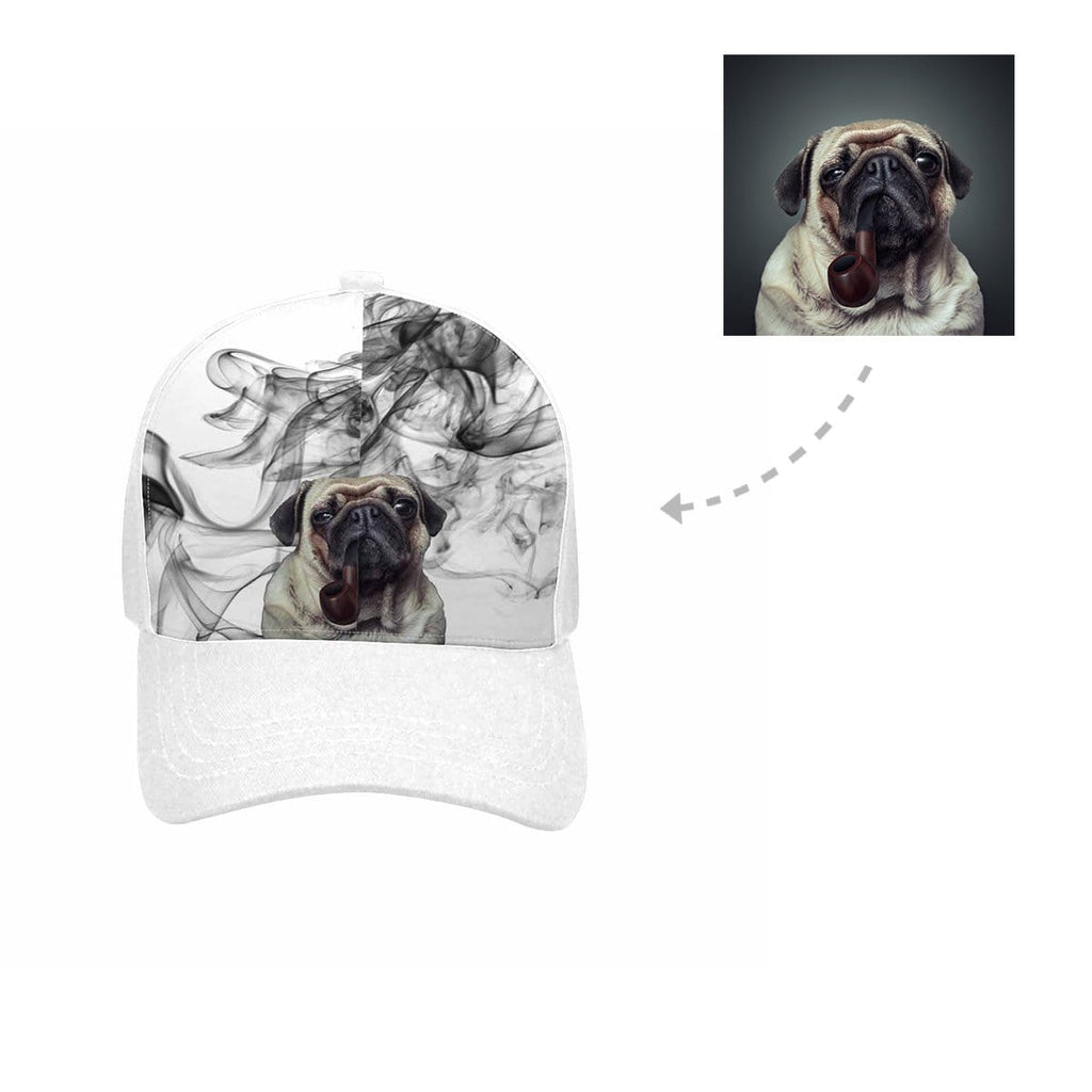 Custom Smoking Dog Unisex Baseball Cap