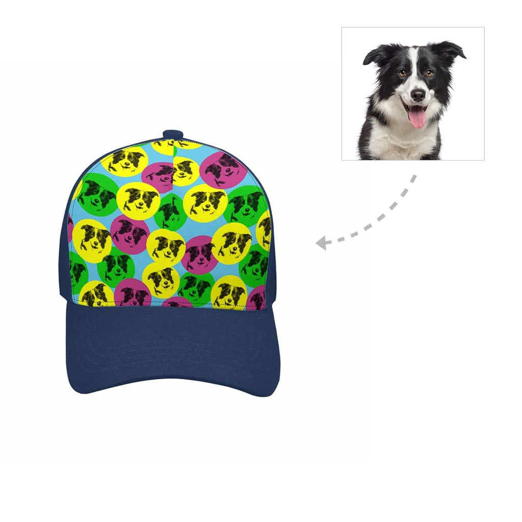 Custom Colorful Dog Unisex Baseball Cap