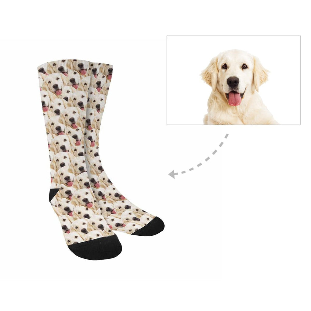Custom Dog Multi Face Sublimated Crew Socks