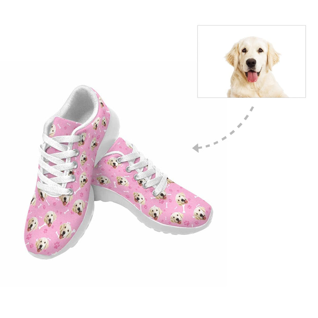 Custom Golden Retriever Paw and Bone Women's Sneaker