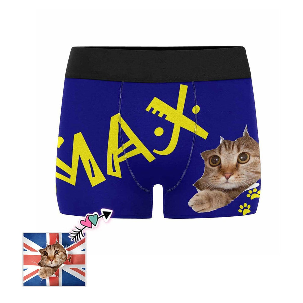 Custom Cat Name Men's Boxer Briefs