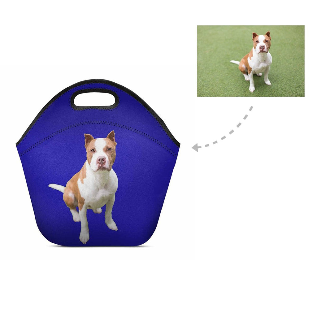 Custom Pit Bull Face Neoprene Lunch Bag