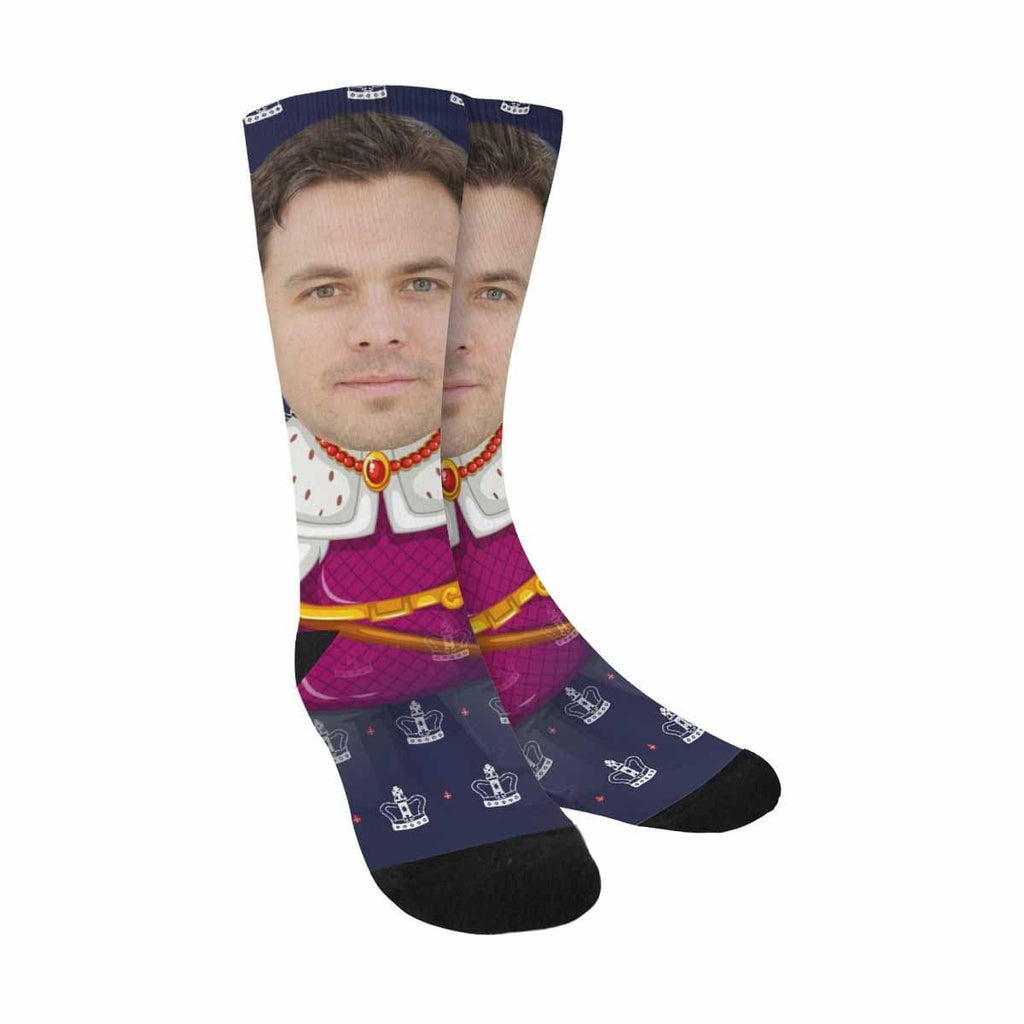 Custom Face Crown Sublimated Crew Socks