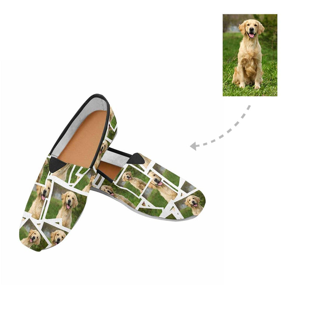 Custom Golden Retriever Photo Women's Casual Shoes
