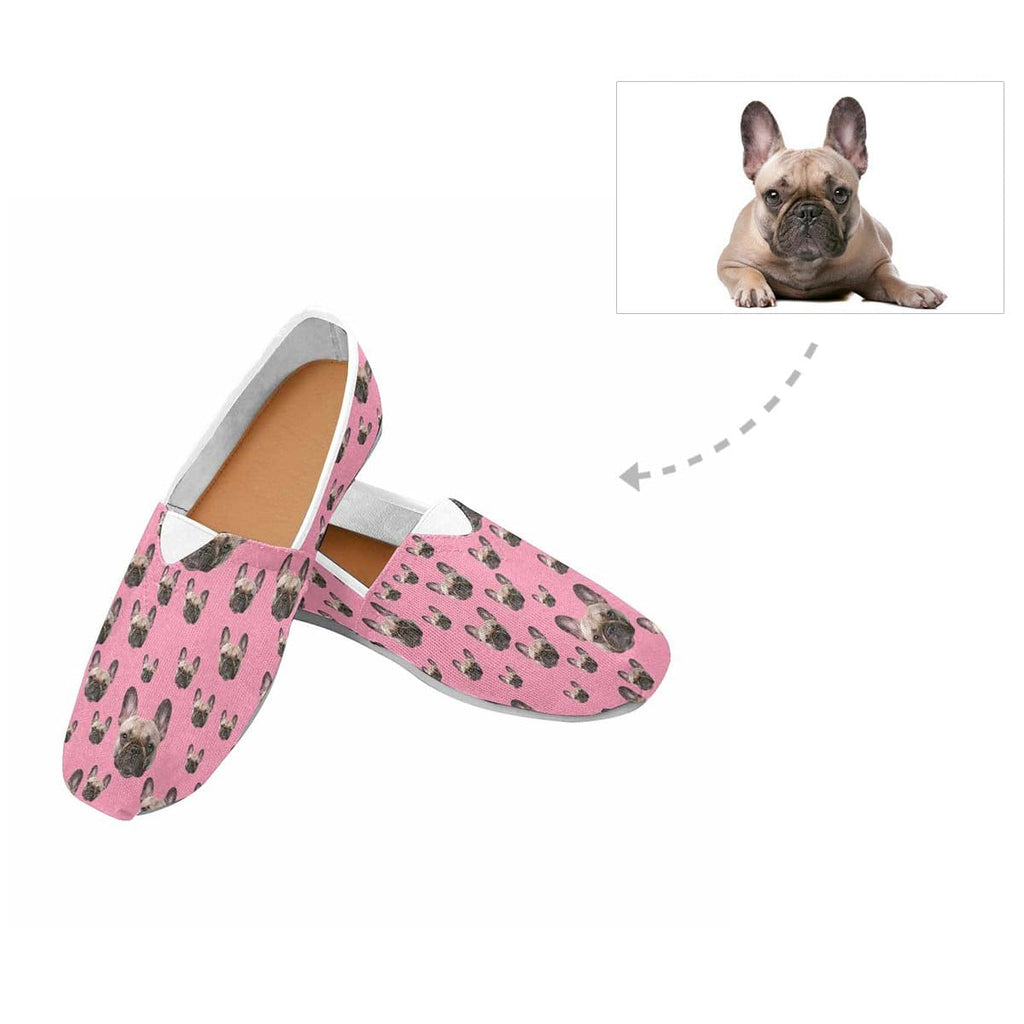 Custom Dog Face Women's Casual Shoes