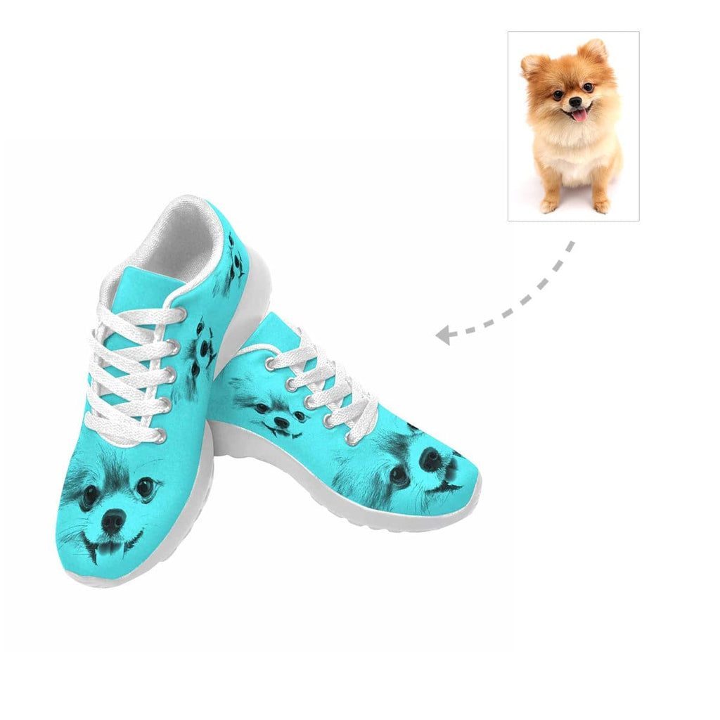 Custom Dog Face Men's Sneaker