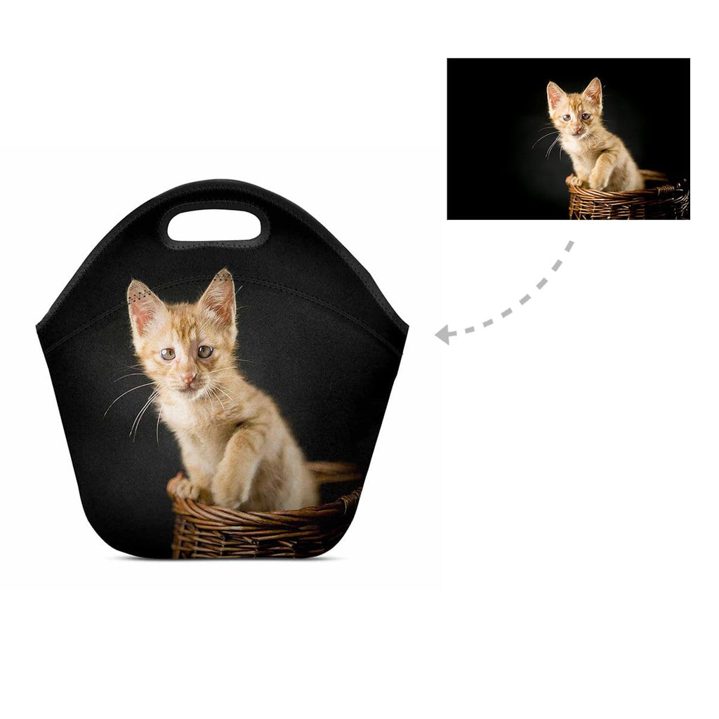 Custom Cat Photo Neoprene Lunch Bag