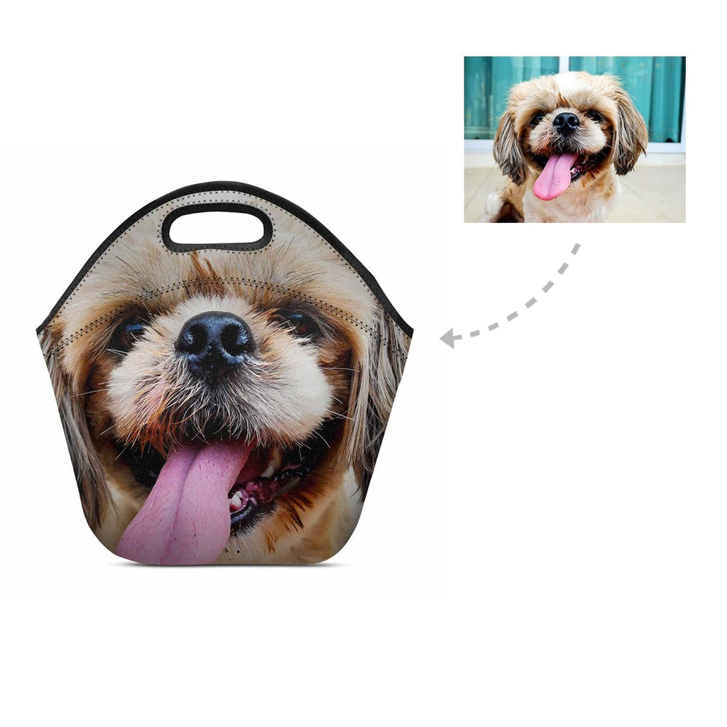 Custom Funny Dog Face Neoprene Lunch Bag
