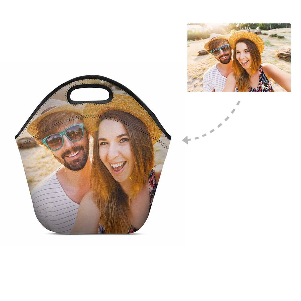 Custom Love Couple Photo Neoprene Lunch Bag