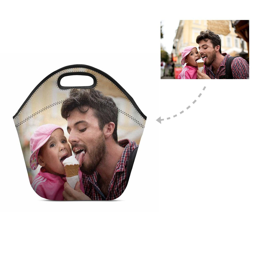 Custom Dad & Kid Photo Neoprene Lunch Bag