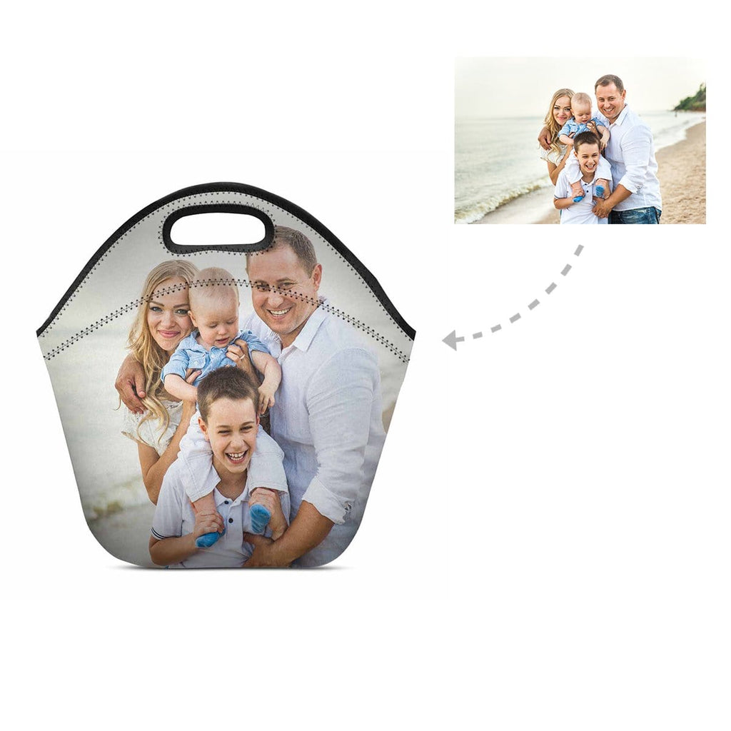 Custom Family Photo Neoprene Lunch Bag