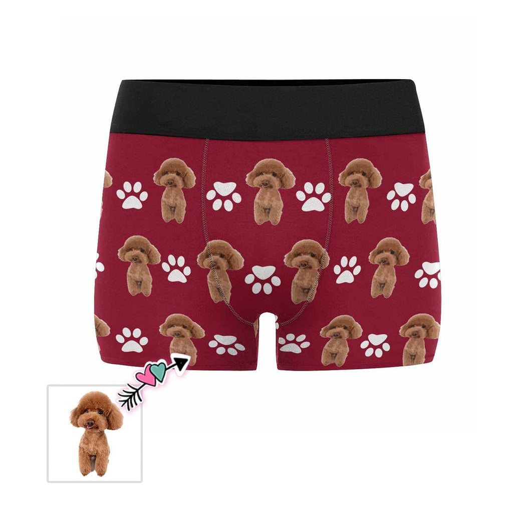 Custom Cartoon Dog Paw Men's Boxer Briefs