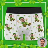 Custom Face I'm Coming Men's All-Over Print Boxer Briefs
