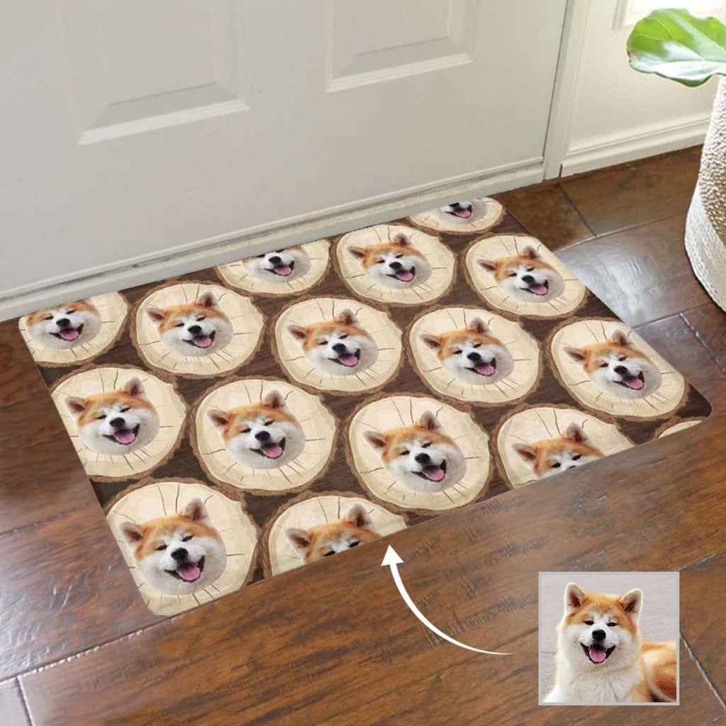 Custom Face Happy Dog Doormat