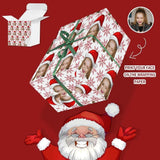Custom Face Christmas Snowflake Gift Wrapping Paper