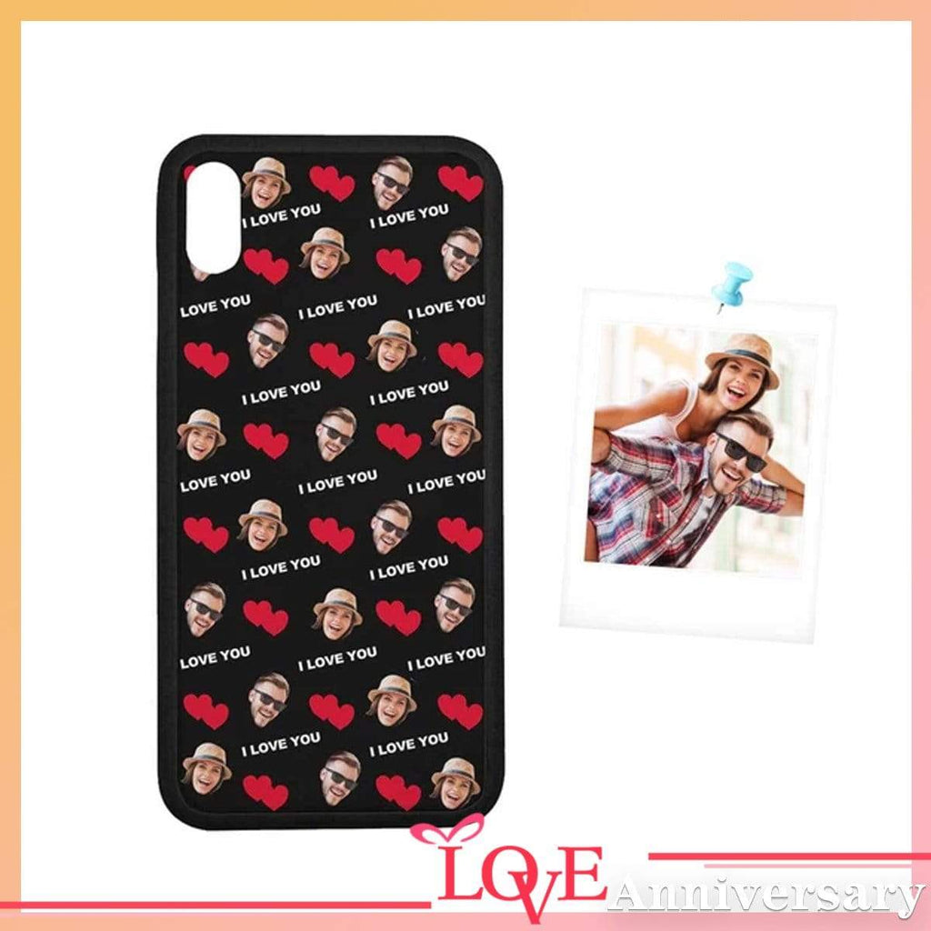 Custom Couple Face I Love You Rubber Case for Iphone 8/8 Plus/XR/XS Max