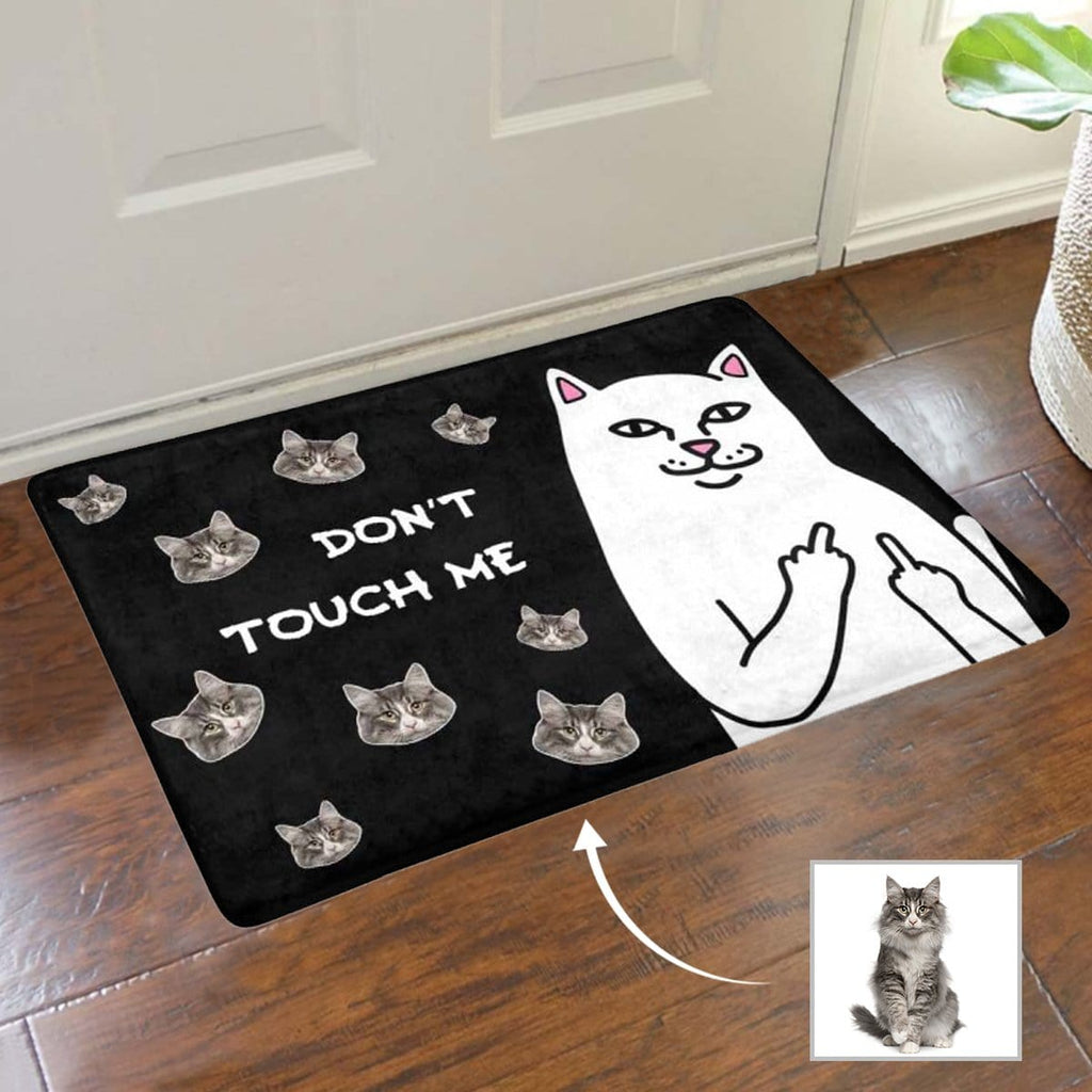 Custom Face Don't Touch Me Doormat