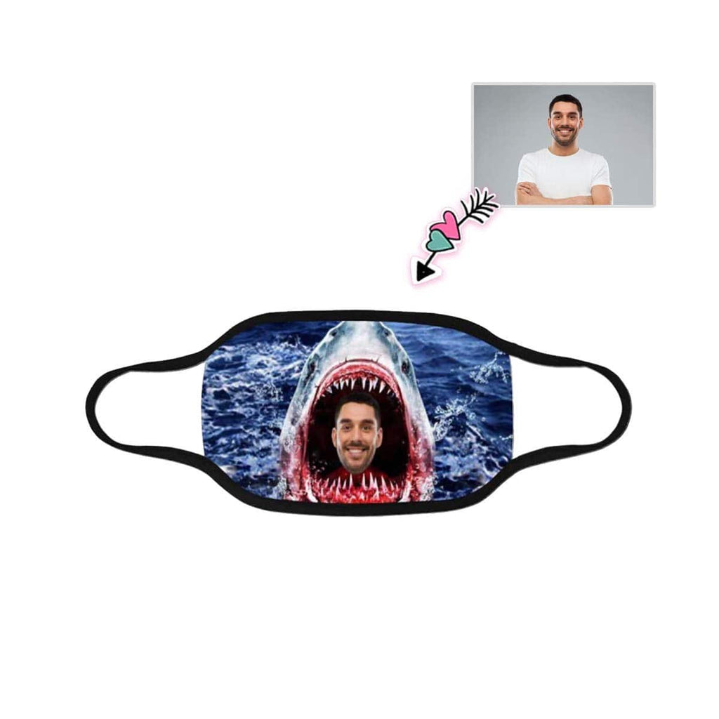Custom Face Shark Mouth Mask Washable Reusable