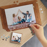 Custom Photo Family Together Wooden Photo Puzzle Best Indoor Gifts 500/1000 Pieces