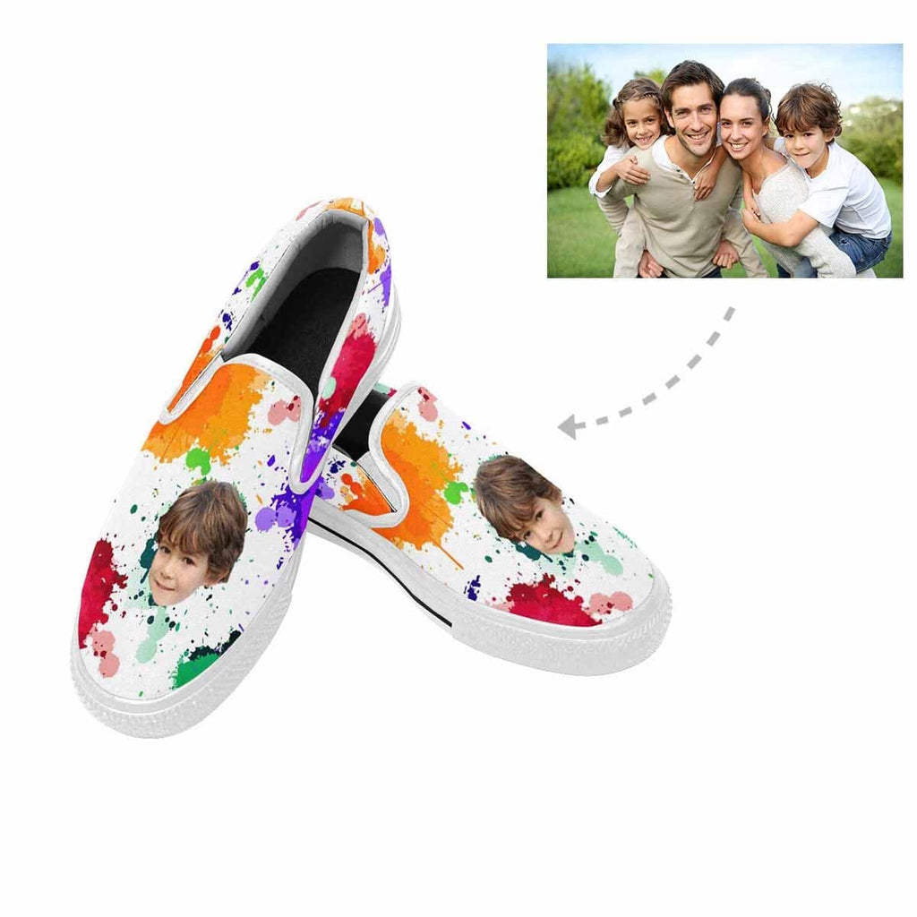 Custom Face Watercolor Slip-on Canvas Women's Shoes
