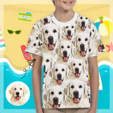 Custom Face Funny Kid's All Over Print T-shirt