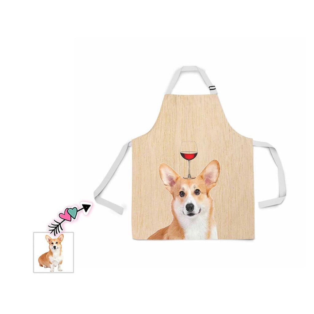 Custom Face Wine Glass All Over Print Adjustable Apron