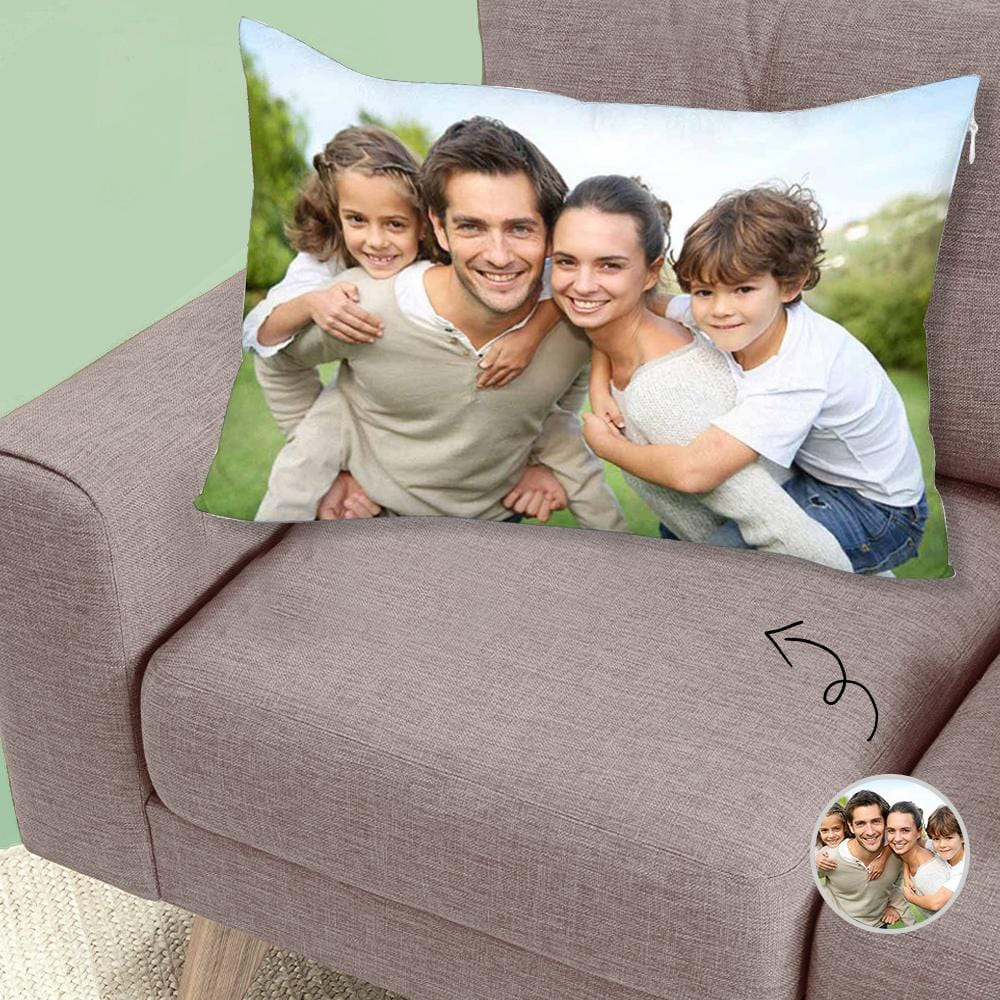 Custom Face Simple Rectangle Pillow Case