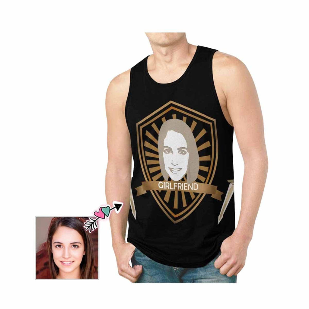 Custom Wife Face Shield Men's All Over Print Tank Top
