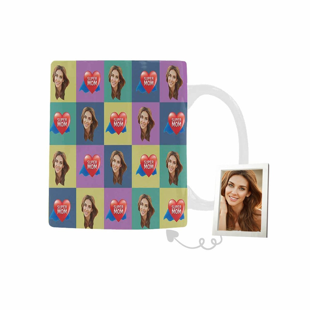 Custom Face Super Mom Classical White Mug