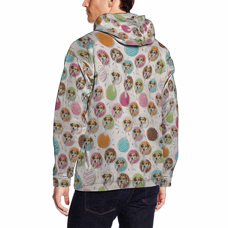 Custom Dog Face Men's All Over Print Hoodie – YesCustom