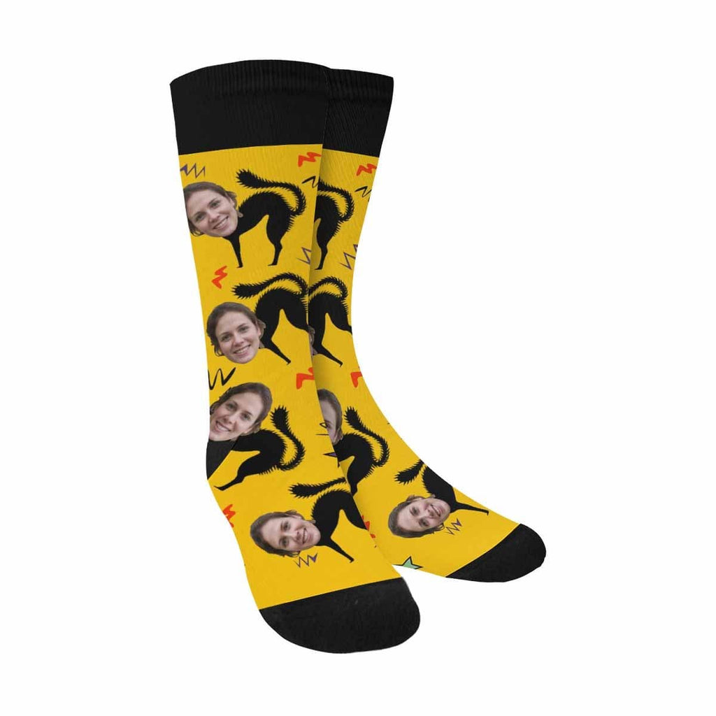 Custom Face Cat Women Sublimated Crew Socks