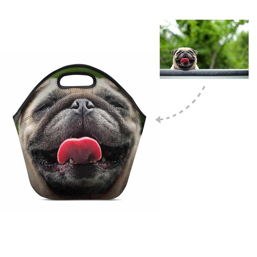 Custom Happy Dog Neoprene Lunch Bag