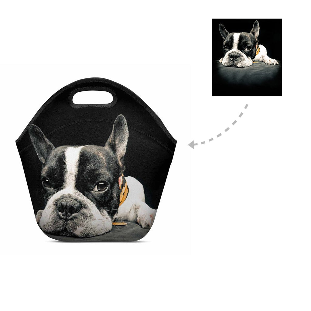 Custom Dog Photo Neoprene Lunch Bag