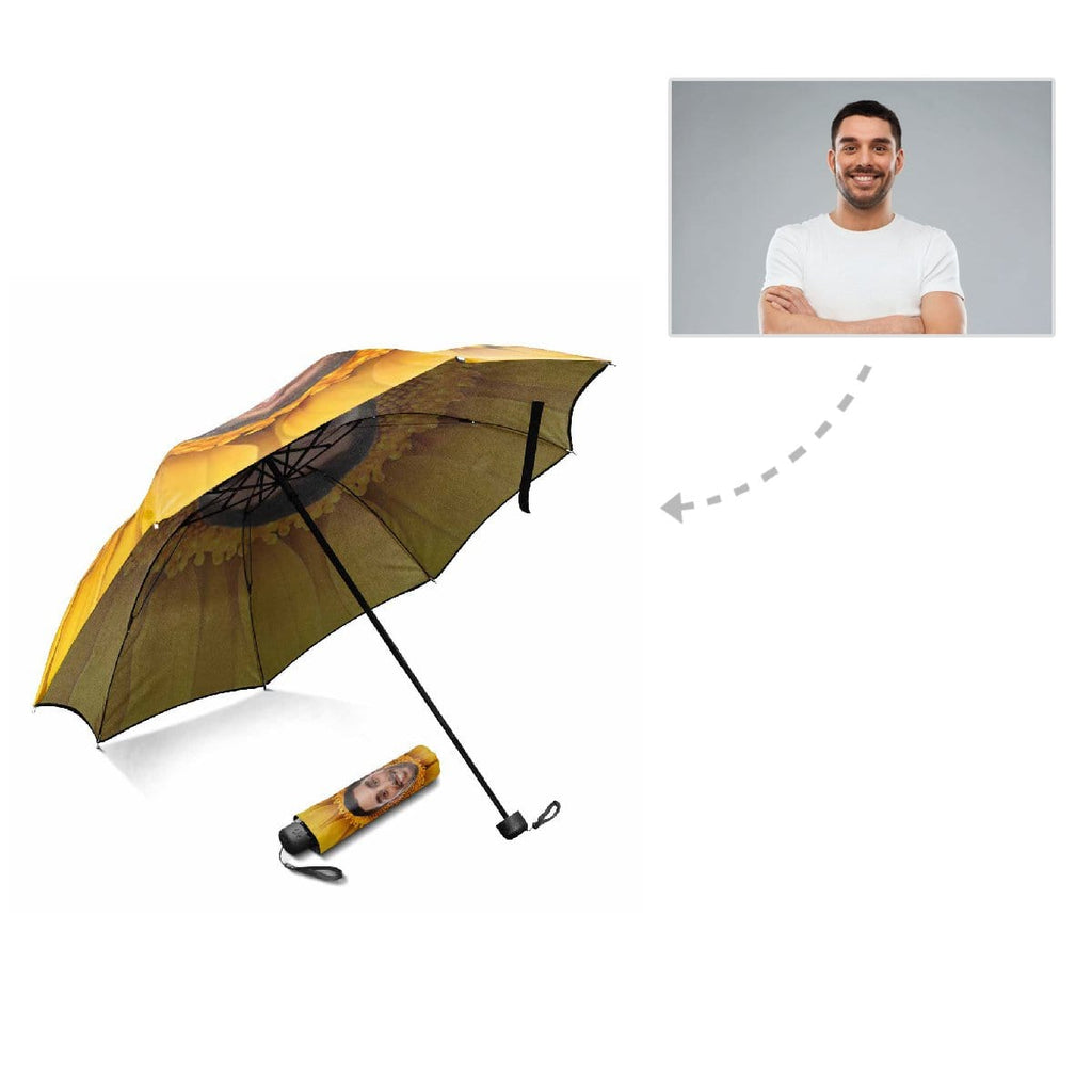 Custom Face Sunflower Foldable Umbrella