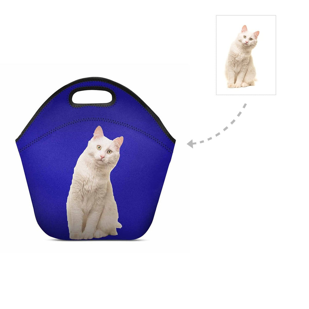 Custom Angora Cat Neoprene Lunch Bag