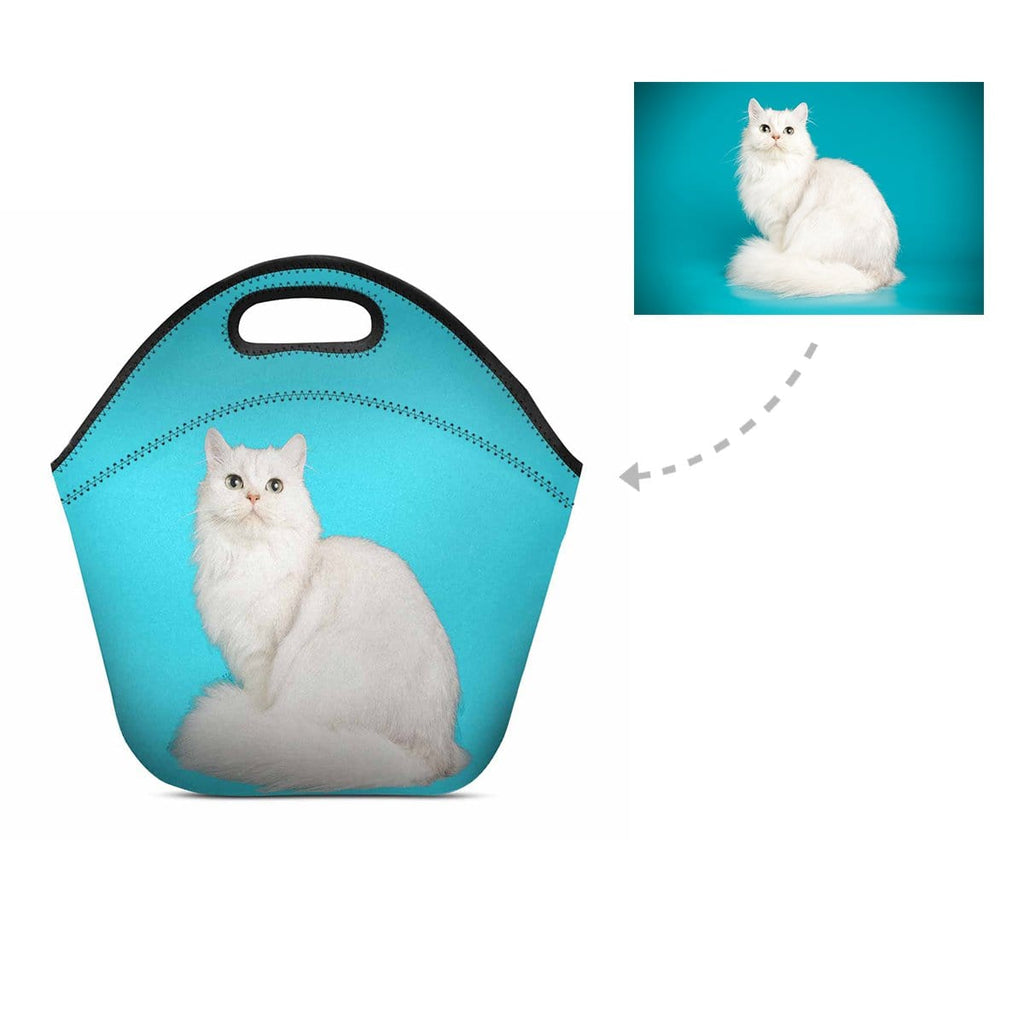 Custom Custom Persian Cat Neoprene Lunch Bag