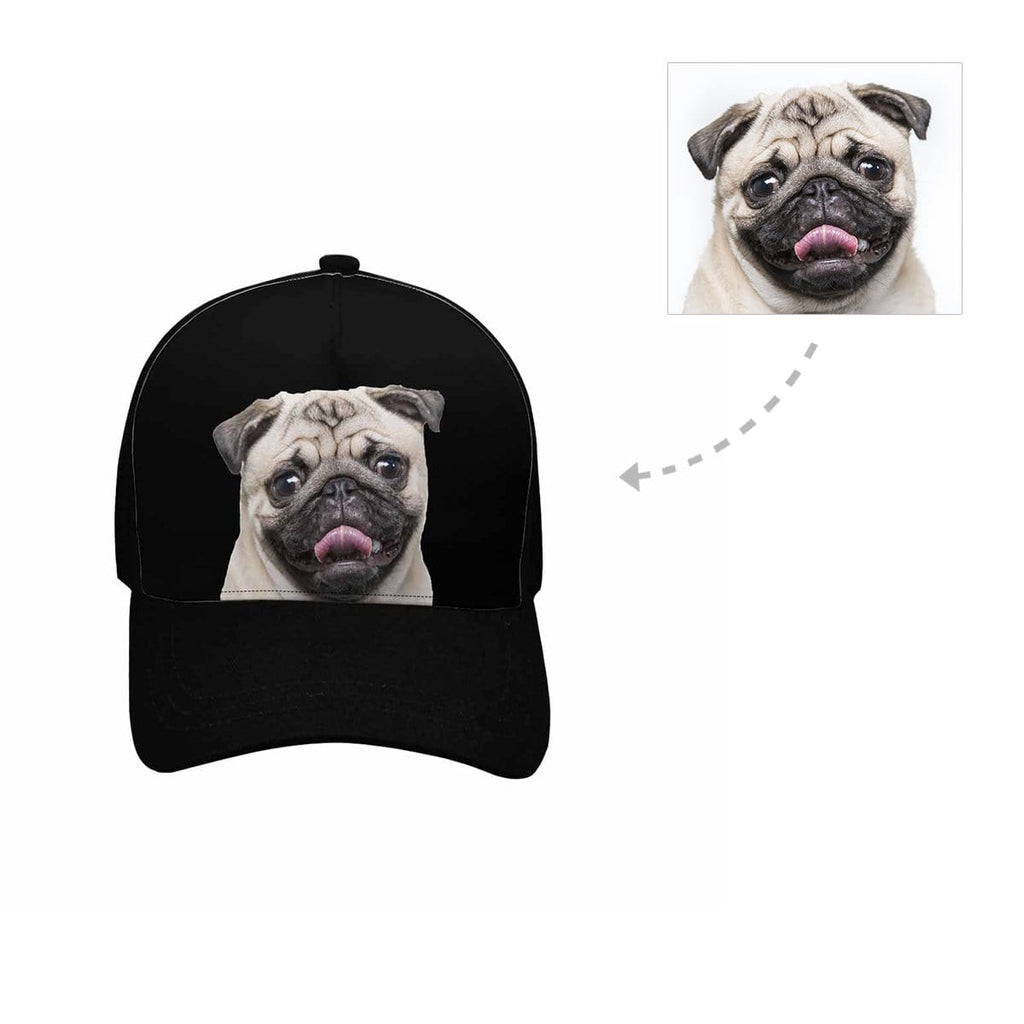 Custom Pug Dog Unisex Baseball Cap
